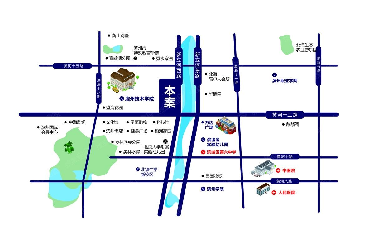 霸州河畔新城结构图