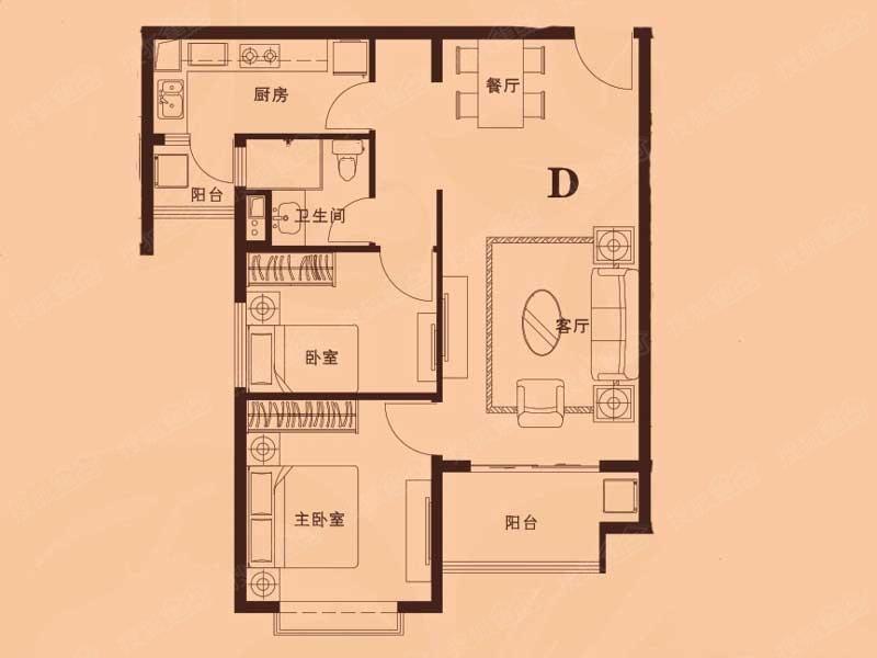 廊坊恒大翡翠华庭二居室d_廊坊恒大翡翠华庭户型图