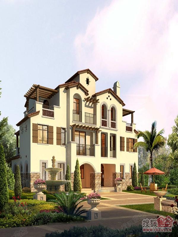 富力别墅湾寿命在售户型175-524平,为四联排,红树,独双拼联排别墅图片