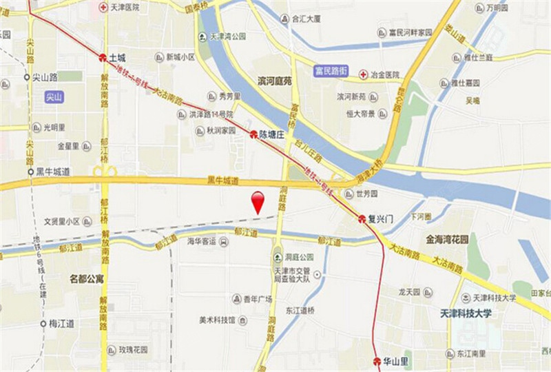 蓟州城区街道地图