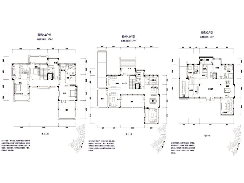 金屋秦皇半岛五居室独栋别墅a2_金屋秦皇半岛户型图