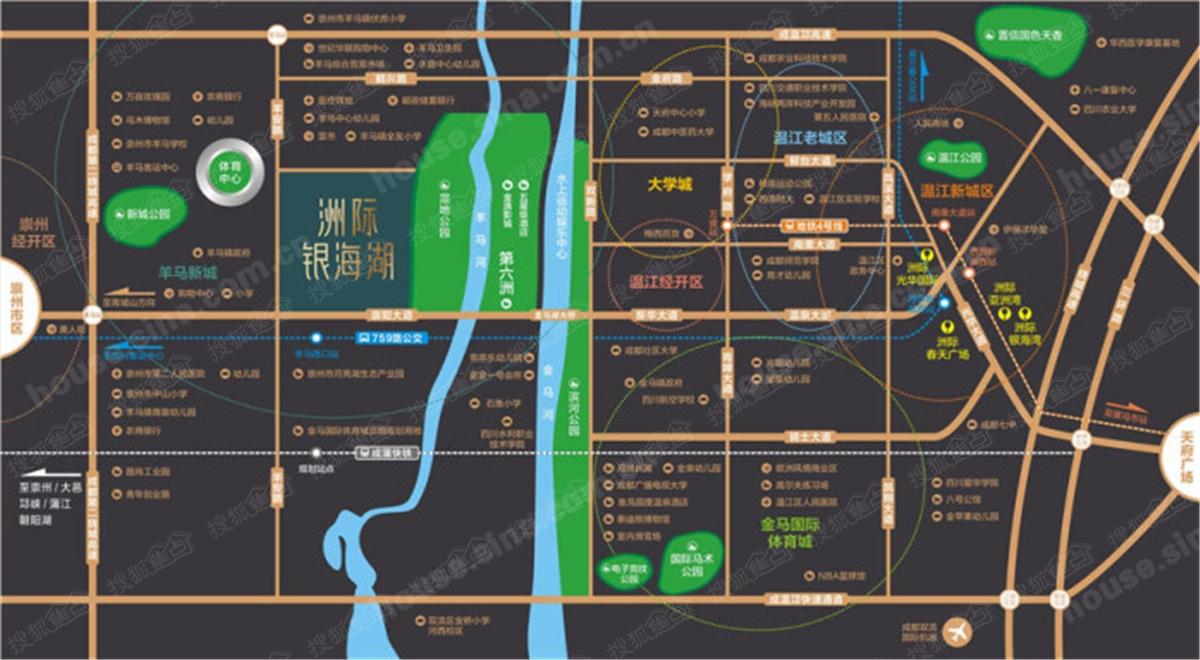 恒大银海湖楼盘交通图