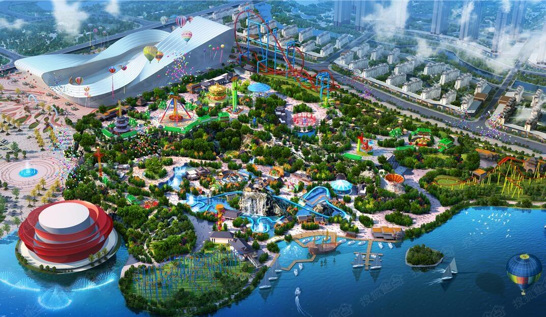 重庆万达城效果图-室外游乐园