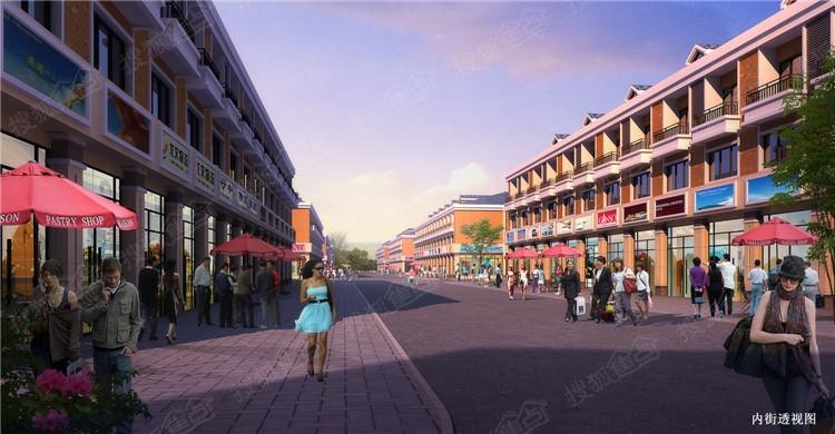 湖南高星物流园内街透视效果图
