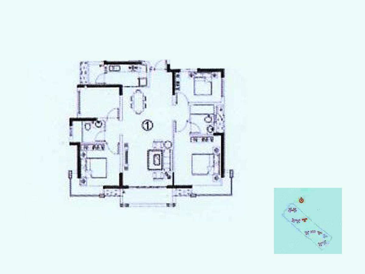 佛山恒大翡翠华庭四居室11栋01_佛山恒大翡翠华庭户型