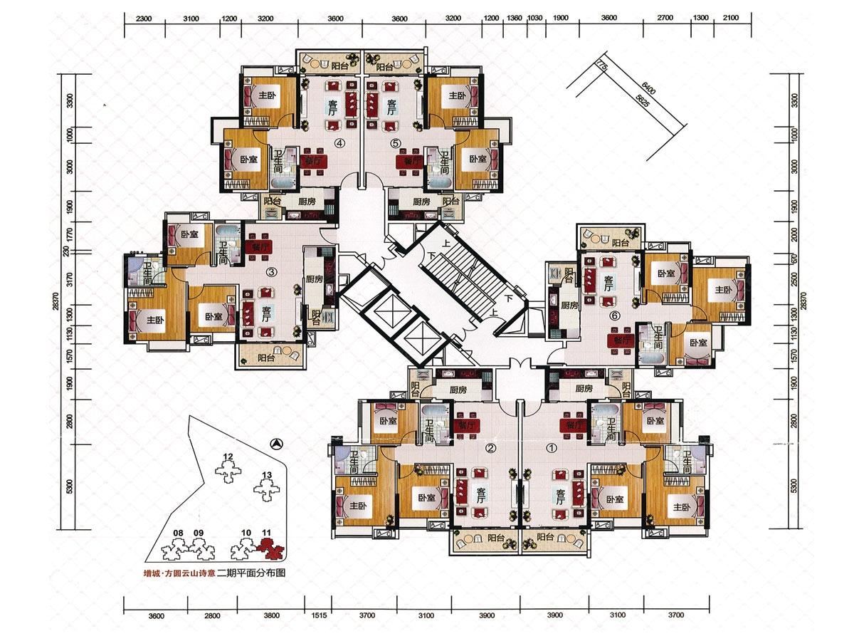 11栋楼层平面图