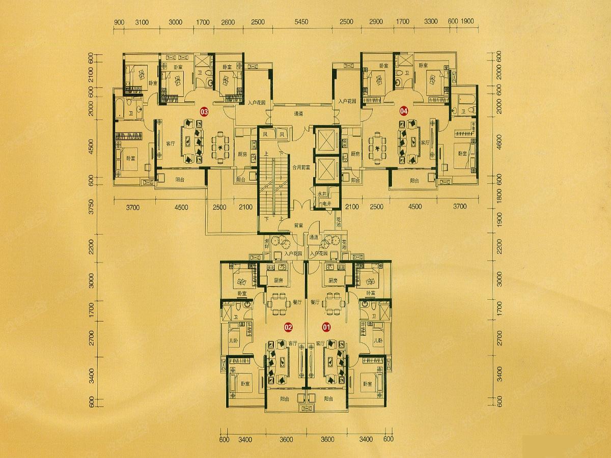 z4栋楼层平面图