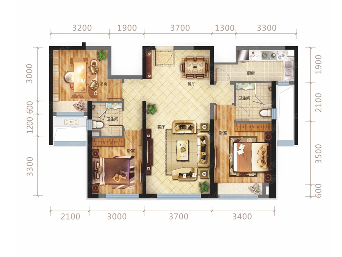 中国海南海花岛三居室二期a2_中国海南海花岛户型图