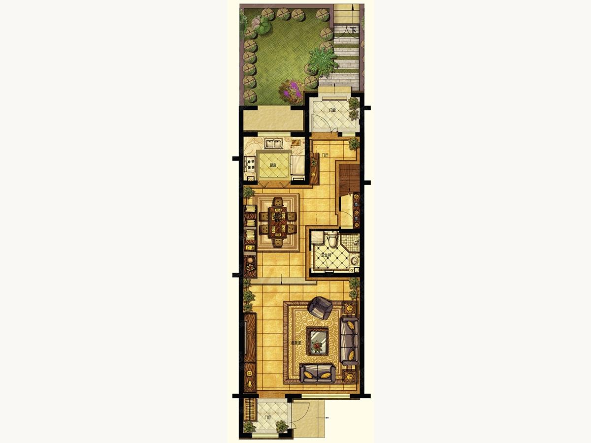 中国海南海花岛四居室2#楼c1