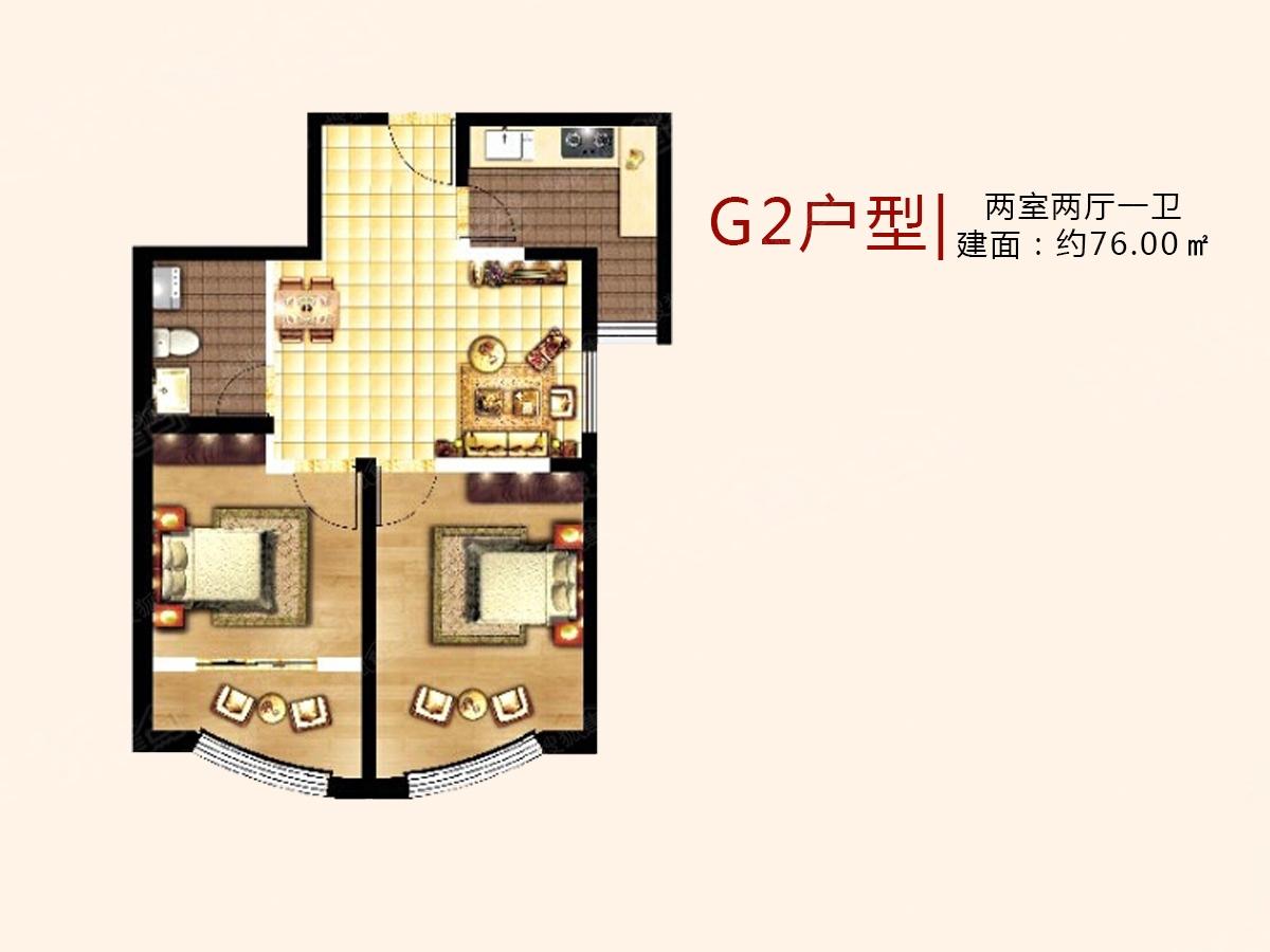中国海南海花岛二居室g2