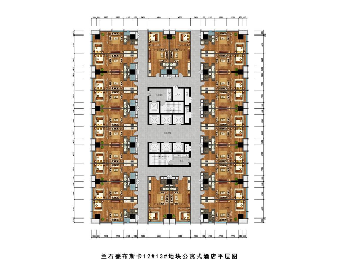 3 地块公寓式酒店平面图