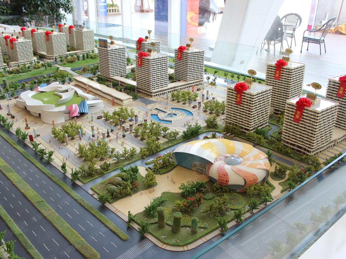 万达·青岛东方影都公寓基本售罄沙盘实景图