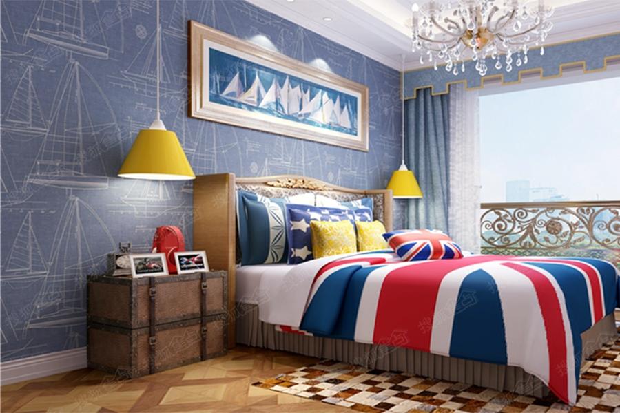 天泰碧玺园洋房145平米两居户型样板间-次卧