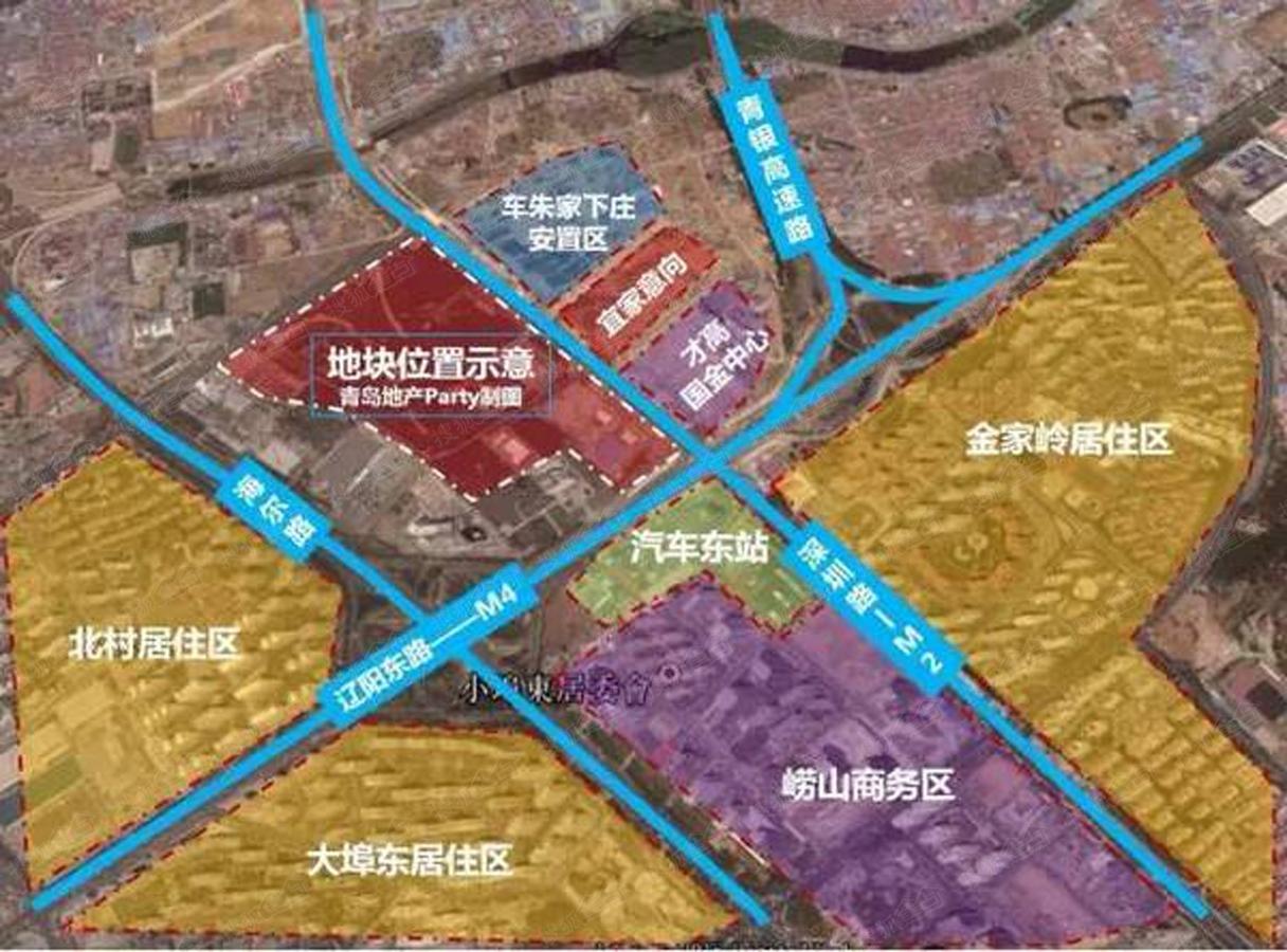 华润辽阳东路地铁上盖项目位于崂山区金家岭金融新区北区,深圳路与