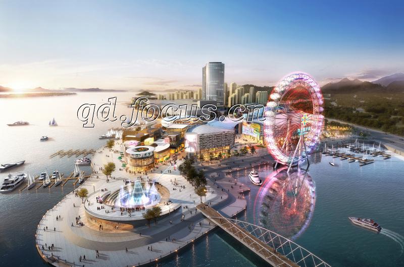 青岛海上嘉年华整体项目鸟瞰图