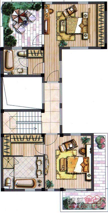 联排别墅b1二层-3室3厅3卫-215.38(建面)别墅长春v二层李嘉诚图片