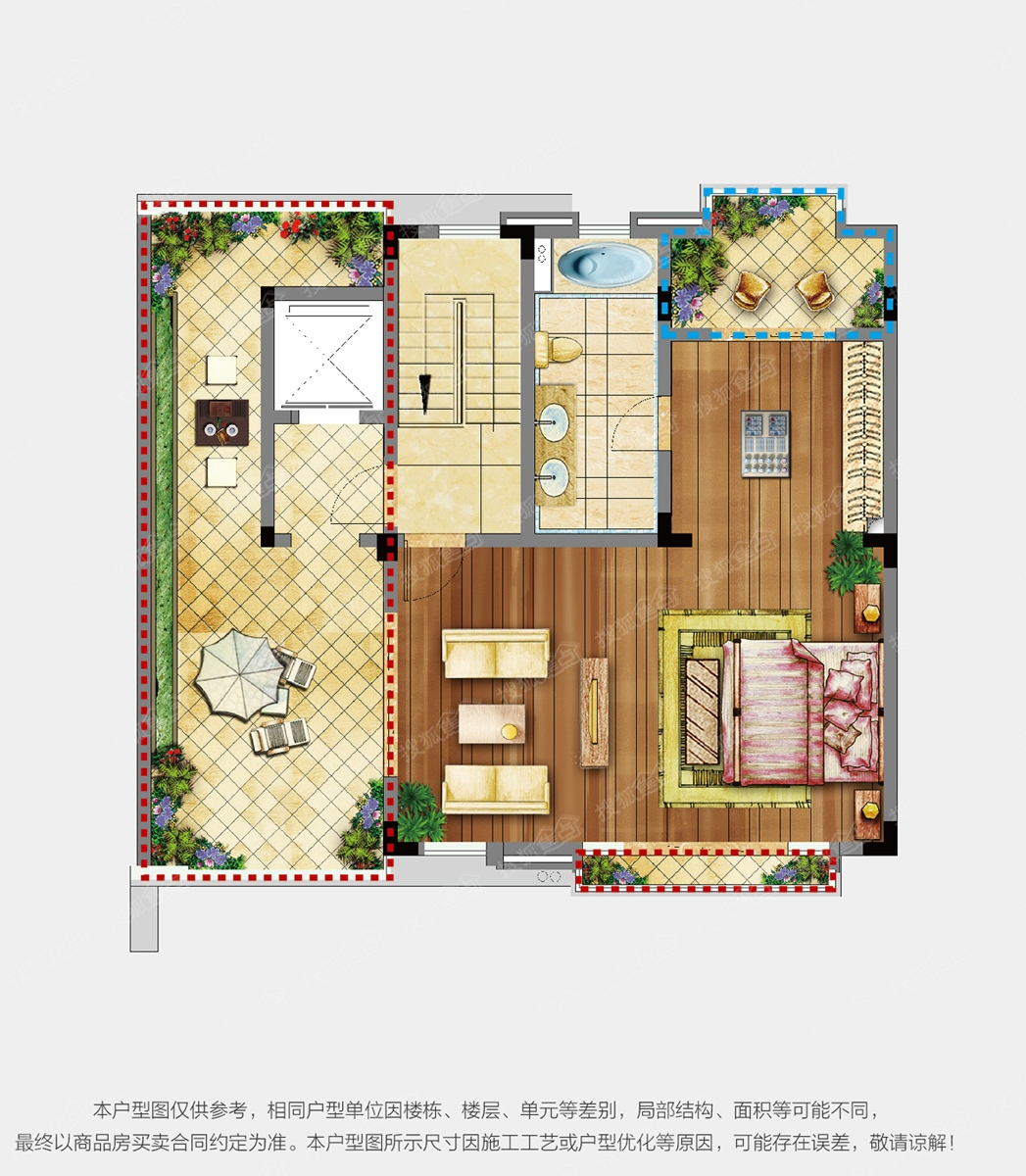 6aOe5Lh5LiL6L29MjAxMg==_世茂天樾联排205㎡5室2厅4卫l2中间套一层户型