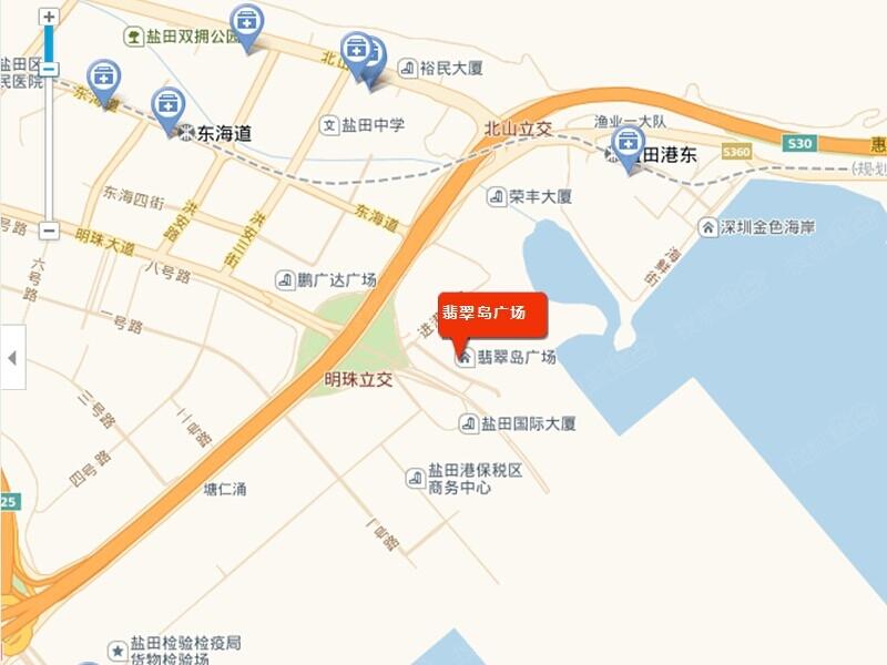 [翡翠岛广场]盐田商业综合体预计2015年开业经营