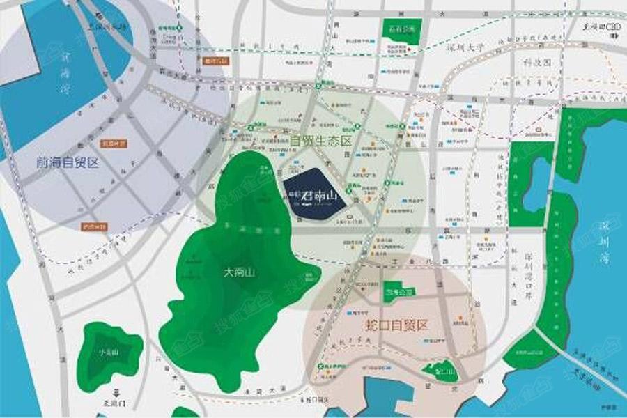 中熙君南山区位图