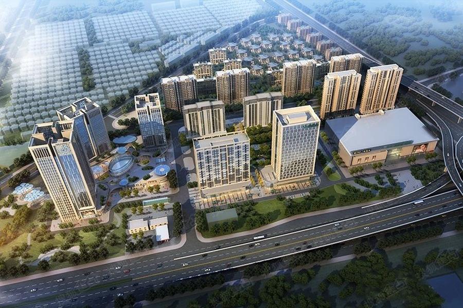 商业综合体沿街效果图-西南板块商业扎堆 或成扬州核心商圈