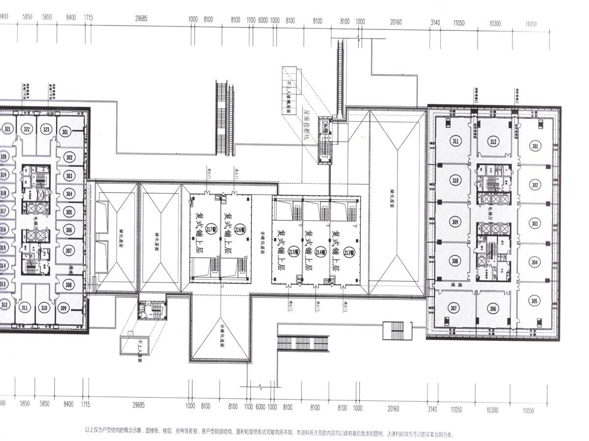 保利中心地块二楼层3平面图-珠海搜狐焦点网